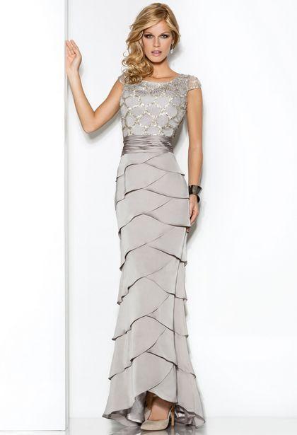 Vestidos de noche para gorditas color plata