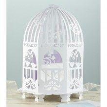 Mooie vogelkooi enveloppendoos voor je bruiloft // via trouwartikelen.nl
