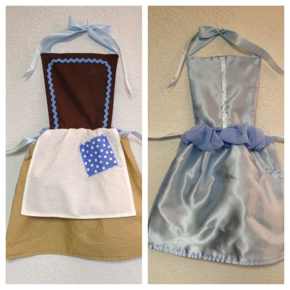 Cinderella Dress-Up Apron. I like the concept of it being reversible.