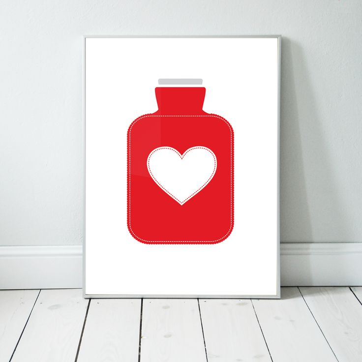 Love III. Plakat. serce | ilustracja | interior design | nursery poster | scandinavian style | minimal | illustration | graphic design