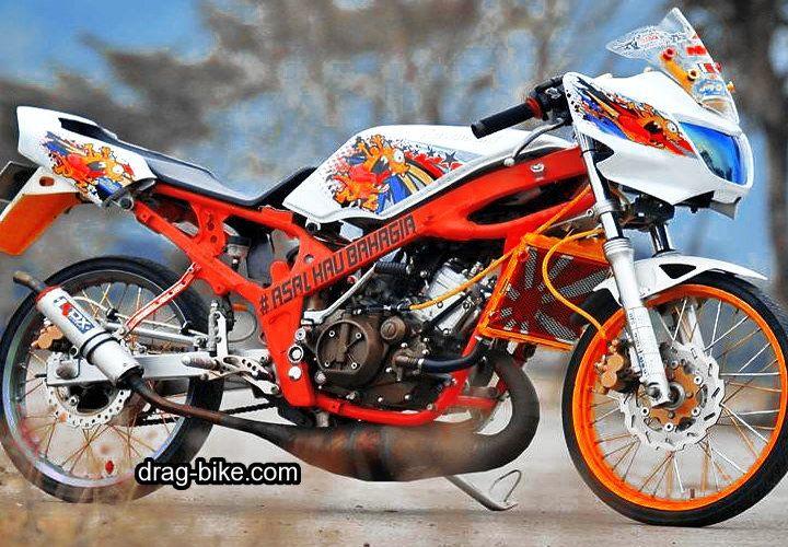 Modifikasi Motor Ninja R Super Kips Gambar Sepeda Karakter Animasi