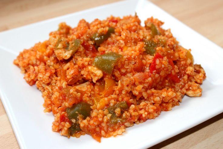 Paradicsomos-csirkés bulgur recept