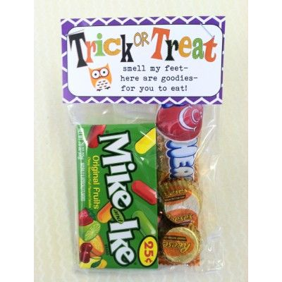 Halloween Gift Bag - Trick or Treat - Holiday