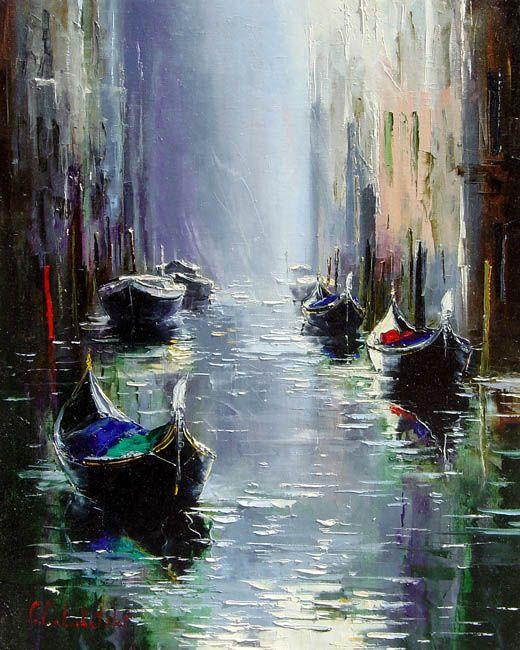 Morning in Venice by Gleb Goloubetski - Gleb Goloubetski was born in 1975 in Omsk, Russia, a Siberian town.