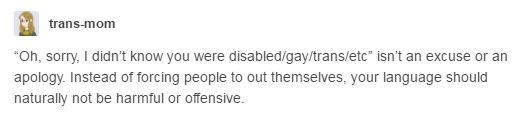 """""""I didn't know"""" is not an excuse or an apology."""