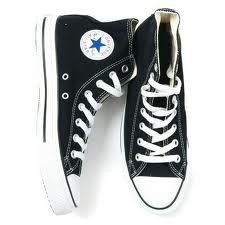 Black Converse Hightops are a must for a girl on the go.