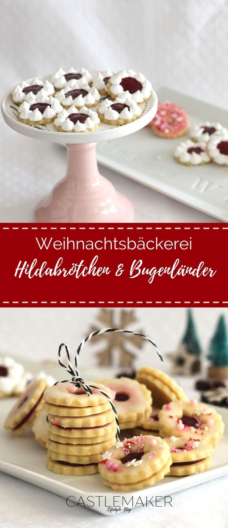 Hildabrötchen mit Kirsch-Marzipan-Füllung und Burgenländer mit Himbeerfüllung