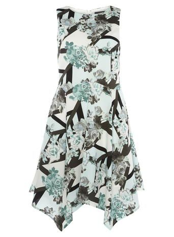 Luxe Asymmetric Print Dress