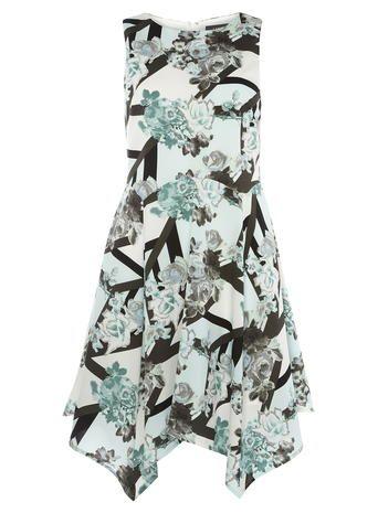 Luxe Asymmetric Print Dress