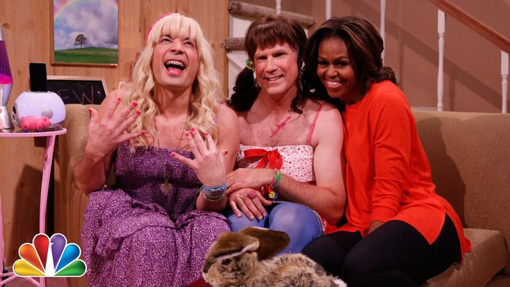 First Lady Michelle Obama Stars in 'Ew!' Sketch With Jimmy Fallon and Will Ferrell on 'The Tonight Show'
