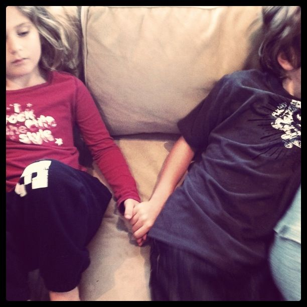 What do you think? Would this idea work for your children? Five minutes of hand-holding for sibling conflict. If you disrespect your sibling? 5 minutes of hand-holding.  If you raise your voice to your sibling? 5 minutes of hand-holding.  If you make fun of your sibling? 5 minutes of hand-holding.