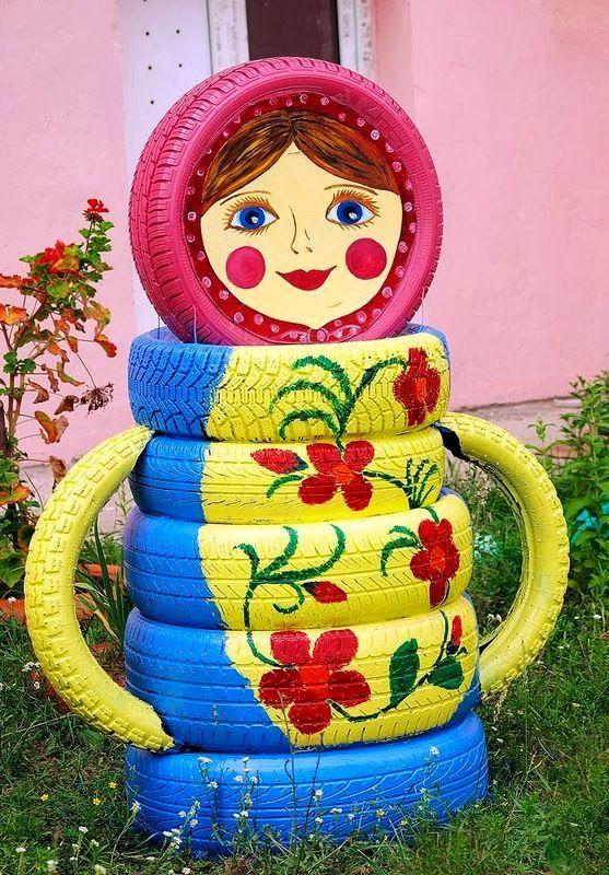 mais de 1000 ideias sobre artesanato com pneus no