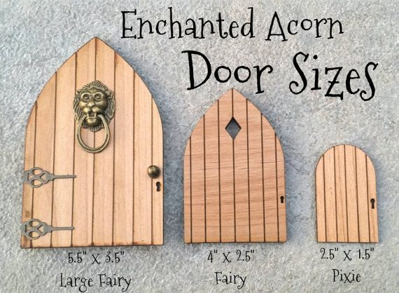 DIY Blank Fairy Garden Pixie Door Tiny by TheEnchantedAcorn
