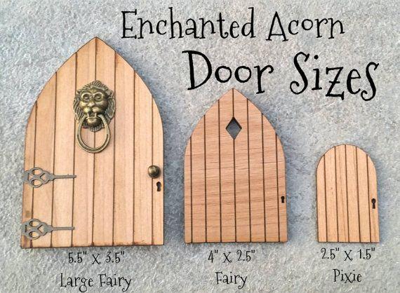 DIY Blank Fairy Garden Pixie Door Tiny by TheEnchantedAcorn