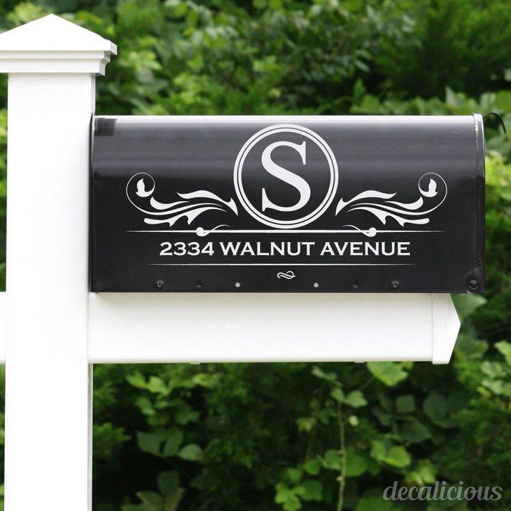 Custom Mailbox Monogram Decal - Monogrammed Gifts, Monogram Decals, Mailbox Decals, Mailbox Decal Stickers, Mailbox Sticker Letters, Custom by decaliciouscom on Etsy