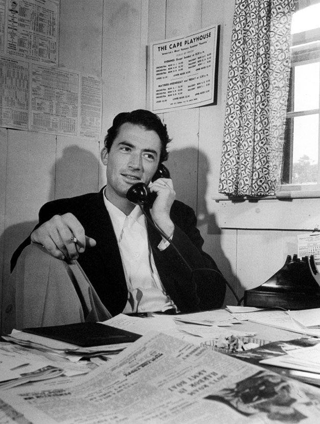 En 1946, Gregory Peck (Vacances romaines) en plein travail.