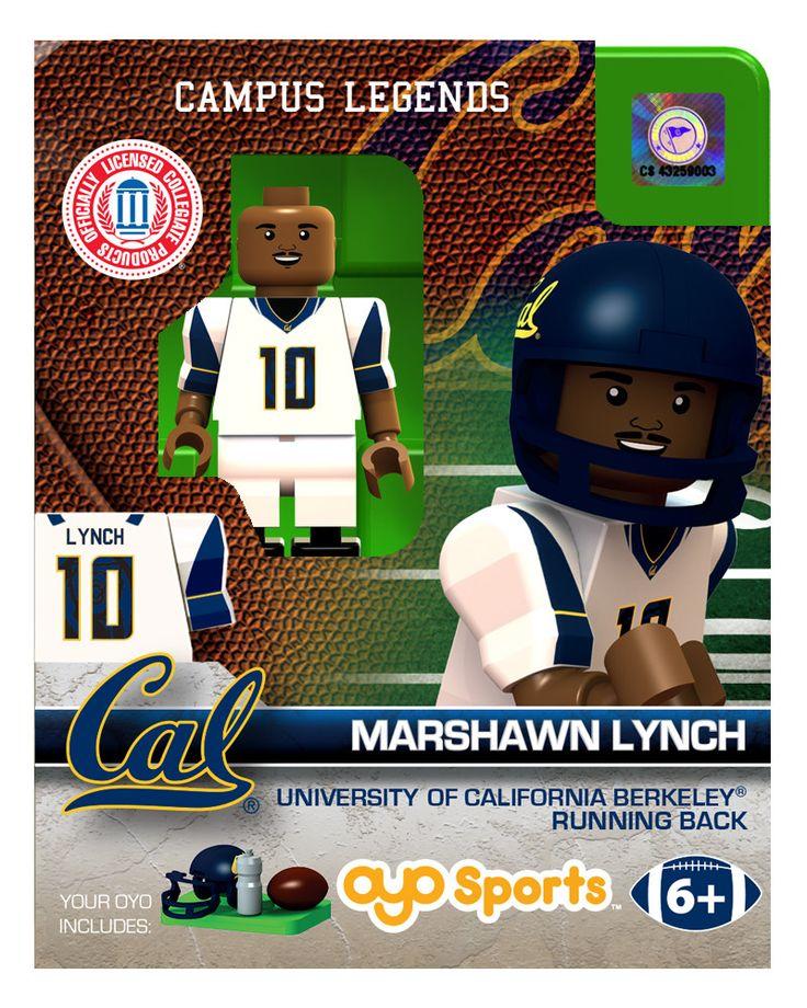 California Golden Bears Marshawn Lynch College Legend Limited Edition OYO Minifigure