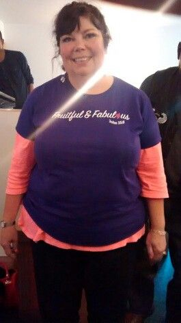 This beautiful woman of God rocking Fruitful & Fabulous logo tee! Look at her glow and that light!!!!