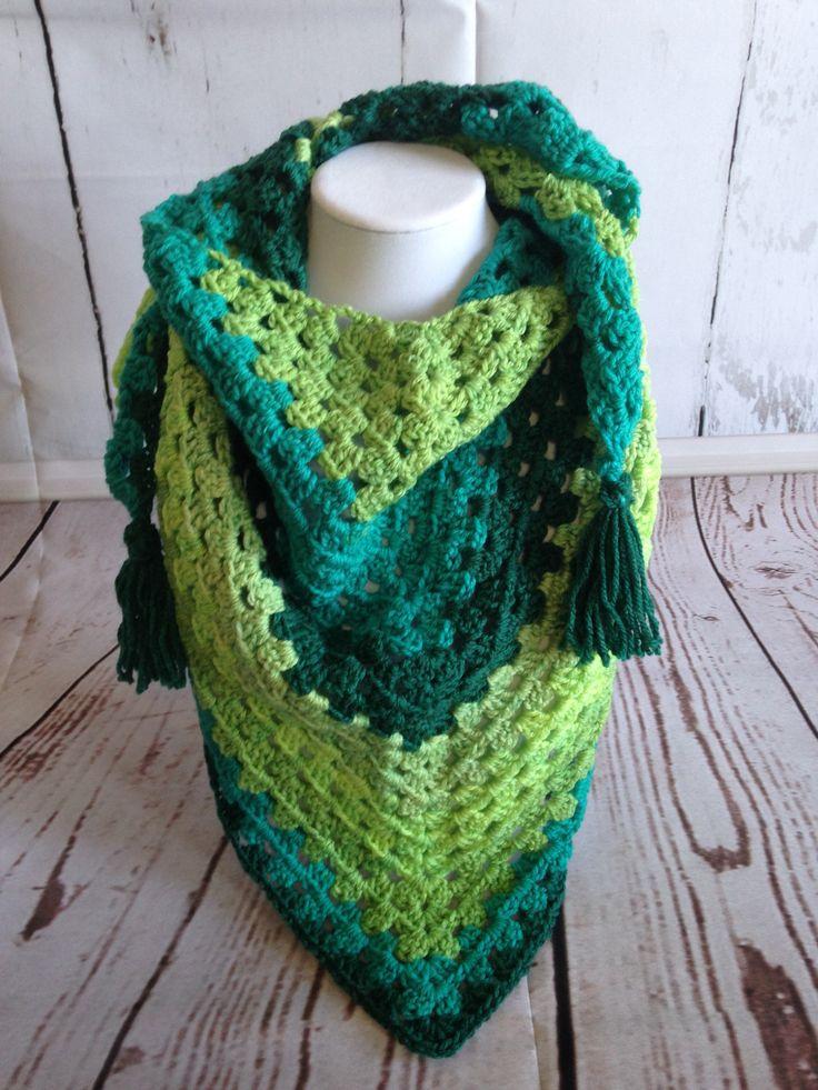 Triangle Scarf - Crochet Scarf - Triangle Shawl - Green Scarf - Green Shawl - Crochet Shawl - Summer Shawl - Summer Scarf - Shawl - Scarf by StephsFamilyStitches on Etsy https://www.etsy.com/ca/listing/511024889/triangle-scarf-crochet-scarf-triangle