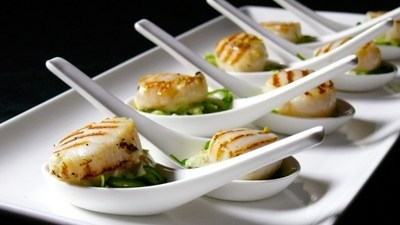 Seared Scallops on Japanese Salad with Wasabi and Lime ...