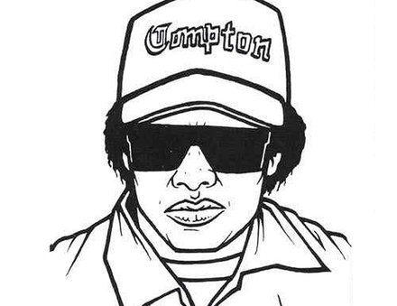 gangsta rap coloring pages In