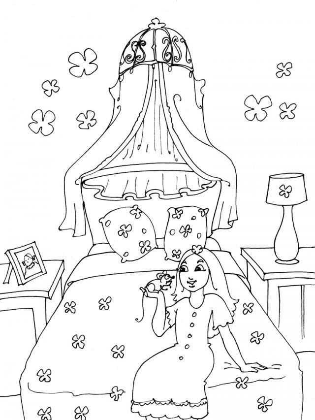 Evin Bölümleri Boyama Sayfasıodalar Boyama Sayfasıevin Odaları