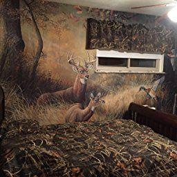 (99x164) October Memories Deer Ducks Hunting Huge Wall Mural Part 9