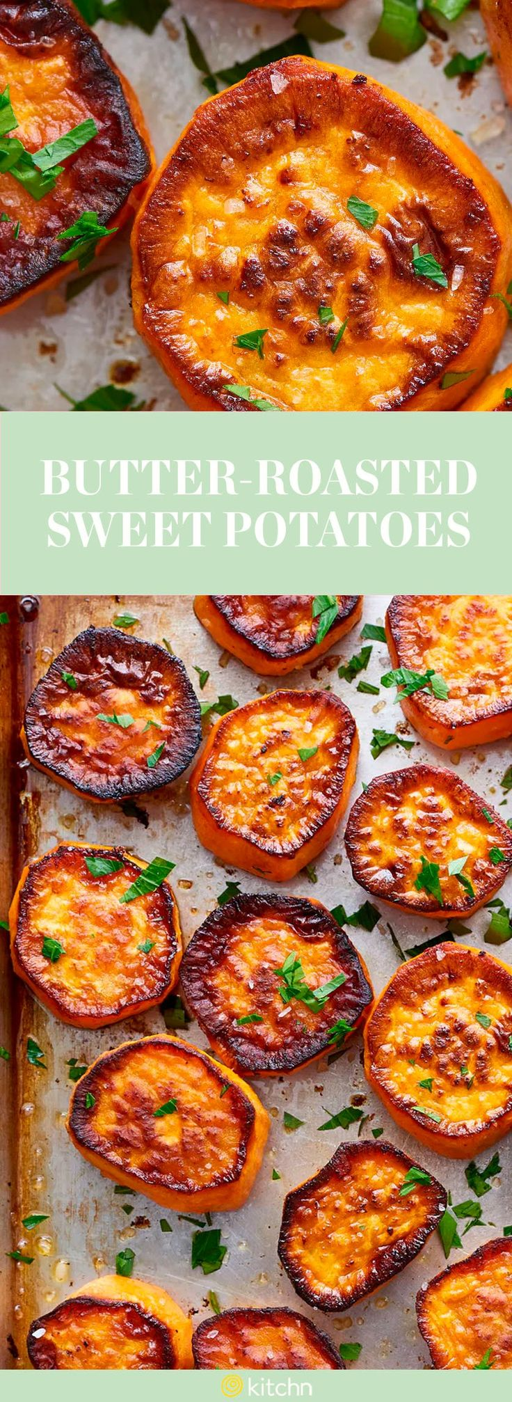 These butter-roasted sweet potatoes are a spotlight side dish you'll want to make this fall. These sweet potatoes get their boosted flavor from the way they are roasted. This way, you can create a deep caramelized look for your sweet potatoes. This dish calls for large sweet potatoes, unsalted butter, and kosher salt.