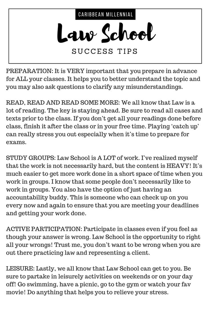 Law School Success Tips