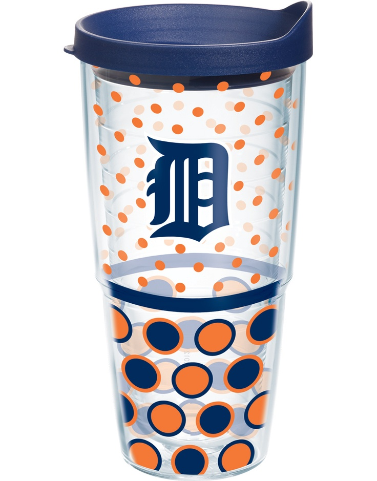 MLB® | Detroit Tigers | Polka Dot Wrap with Lid | Tumblers, Mugs, Cups | Tervis