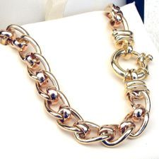Shop for - 9ct Gold Curb Roller Chains