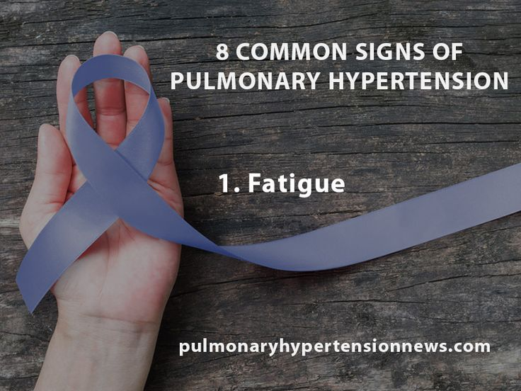 Some common signs of pulmonary hypertension.