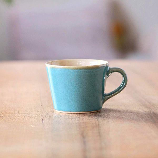 益子焼 コーヒーカップ 青磁 キッチン グラス カップ ドリンクウェア オルネドフォイユwebショップ コーヒーカップ コーヒー カップ