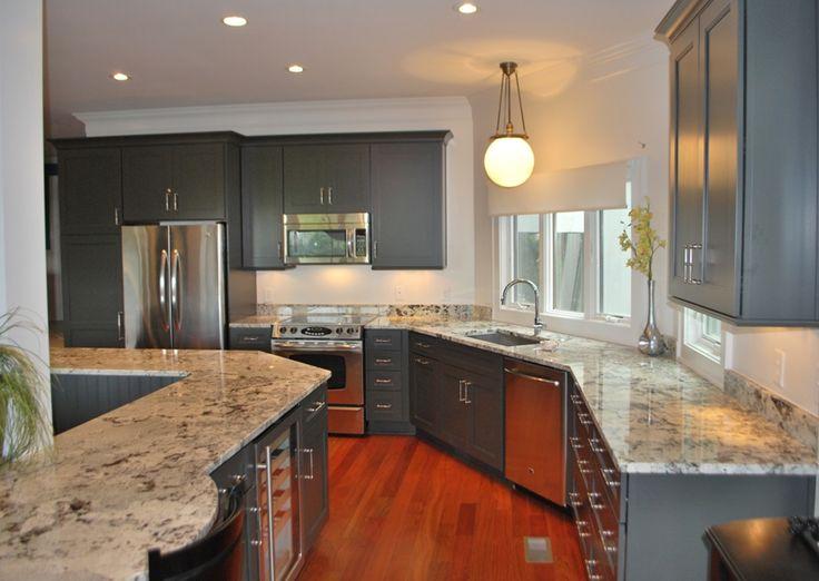 Use of Alaskan White granite in kitchen.