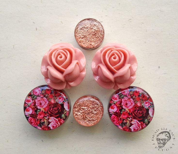 Rose gold, big roses, rose garden plugs