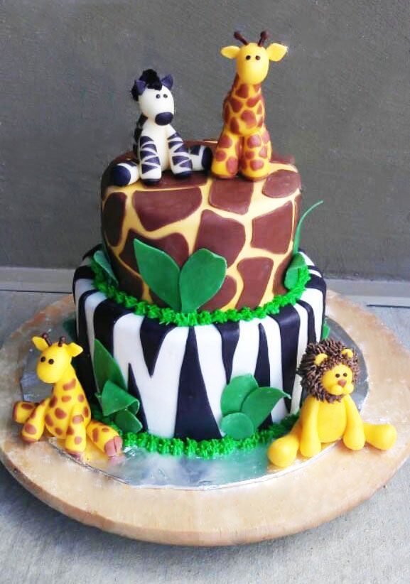 The Cake Market: This is a cute jungle themed cake my daughter made! Love!