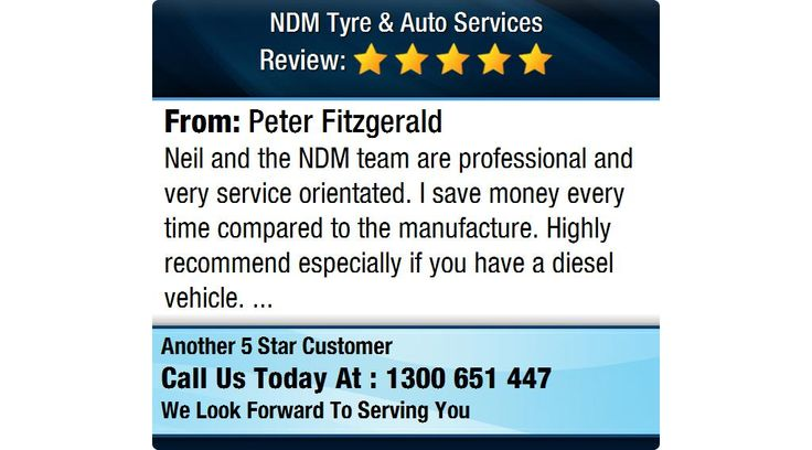Neil and the NDM team are professional and very service orientated...