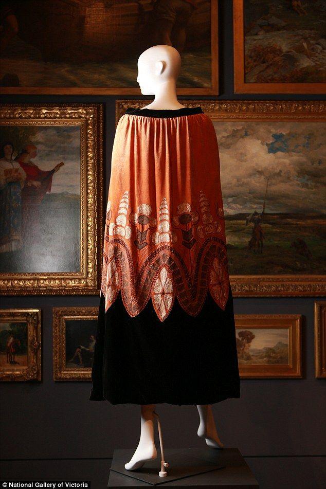 French designerJeanne Lanvin designed this silk evening cape back in 1925