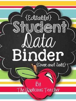 student data binder assessment organization pinterest student