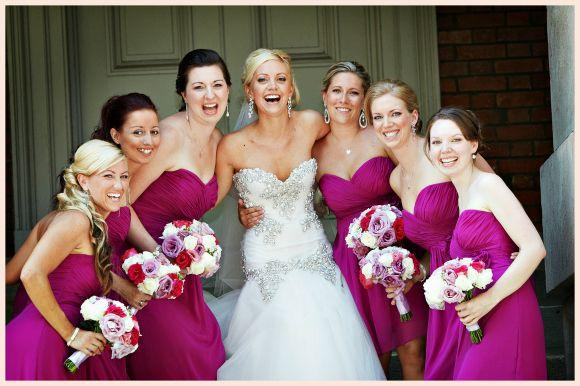 Magenta Wedding attire for groomsmen | Real Weddings | Kimberly + Nathan | PreOwnedWeddingDresses.com
