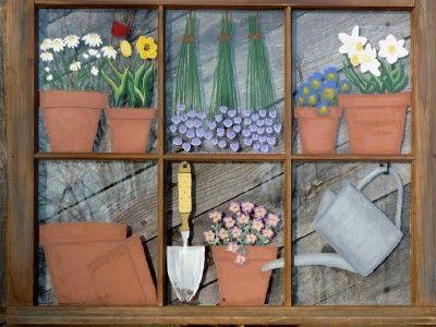 Panes Of Art By Michele L Mueller Window Pane Www Crafts Windows Screens And Doors Pinterest