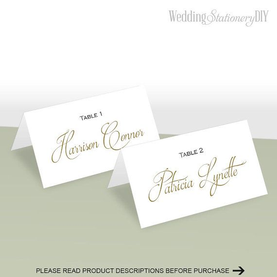Simple elegance place card template Place by WeddingstationeryDIY