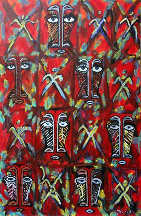 Fale Mana, Acrylic on canvas, 2014