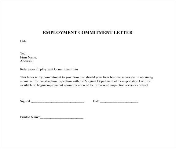 What Is A Commitment Letter Lettering