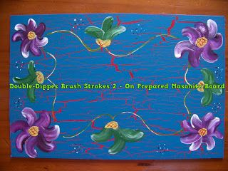 A Pretty Talent Blog: Double-Dipped Brush Strokes on Prepared Masonite Board
