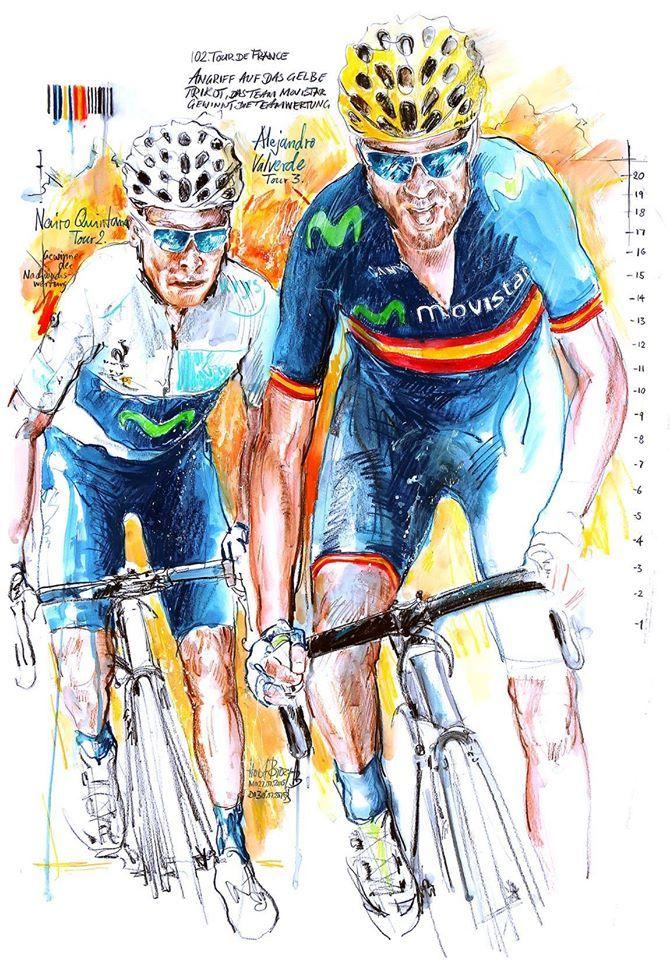 Nairo Quintana & Alejandro Valverde by Horst Brozy