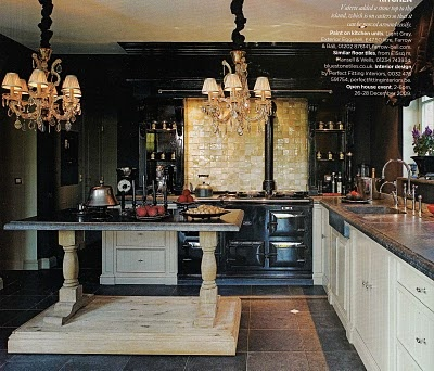 a Belgian kitchen in the home of Belgian interior designer Valerie Daene & husband Peter Vandeberg