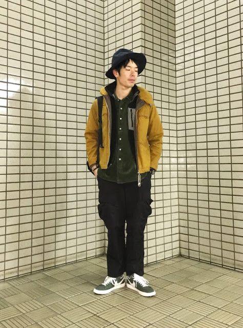 Y's Wardrobe: 懐かしのマリンオイルドジャケットを着て