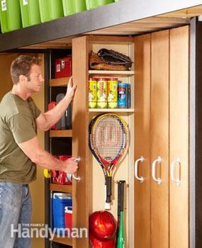 Almacenamiento: Garaje para espacios pequeños estantes deslizantes