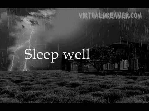 Haunting Storm Sound - 8 Hour Long Rain and Storm for Sleep - YouTube. I love this one!!